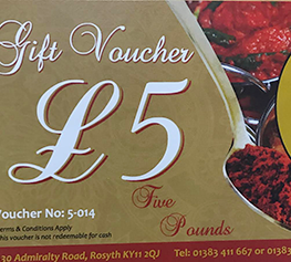 Taste of India Gist Vouchers