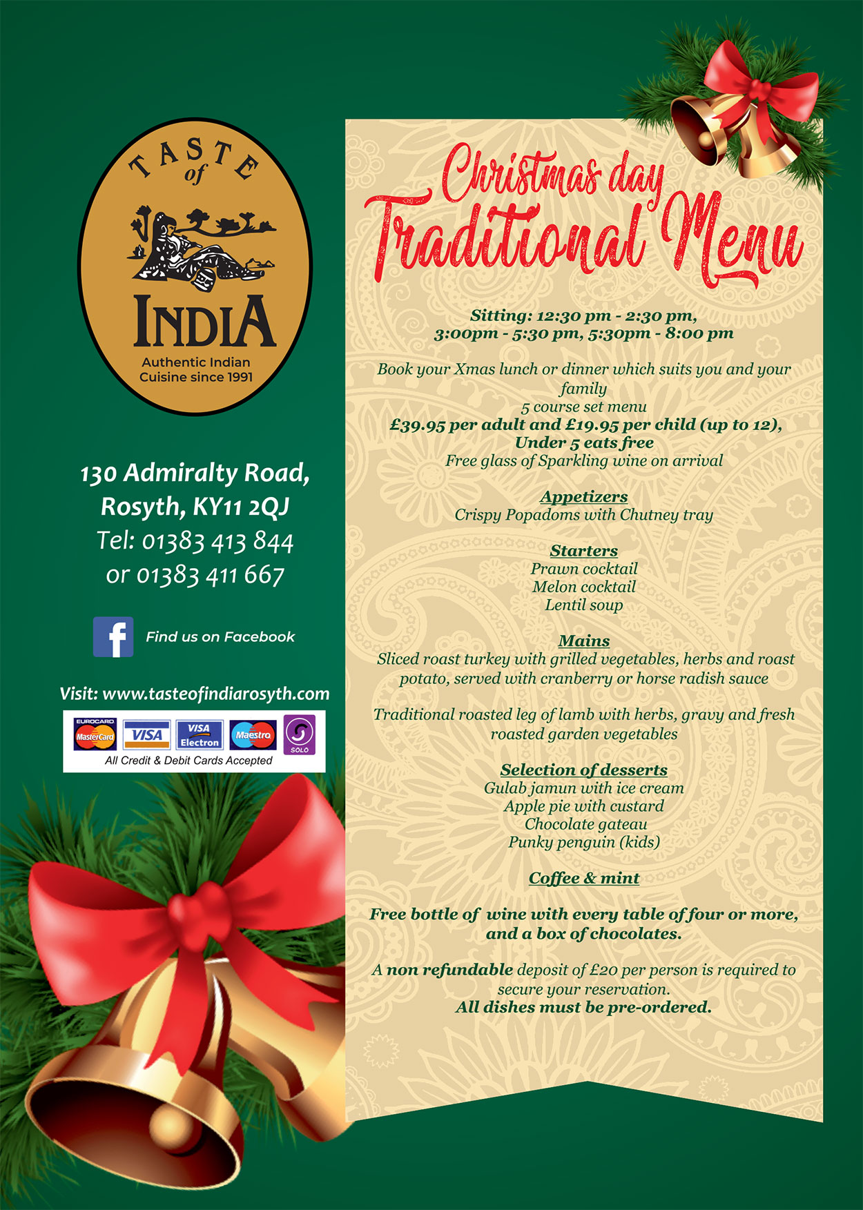 Christmas Traditional Menu 2019